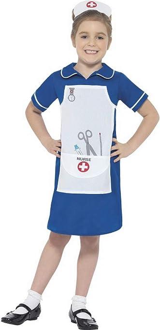 Fancy Ole - Disfraz de Enfermera para niña con Vestido y Capucha ...
