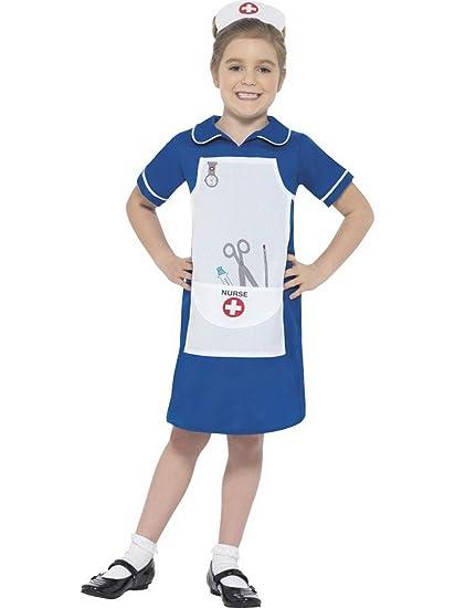 Halloweenia Disfraz de Enfermera para niña, Vestido y ...