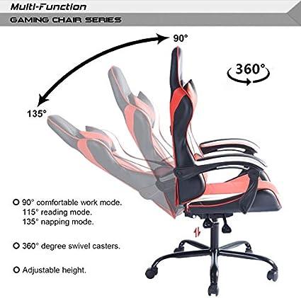 Vantana Nf FurnitureR Reclining Swivel Gaming Computer Chair Ergonomic Lying Lifting Adjustable Chair Home Office Chair