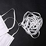 Elastic String for Masks, 100 Yards Braided Elastic 1/4 inch Heavy Stretch Strap Roll White Elastic String Cord for Sewing and Crafting