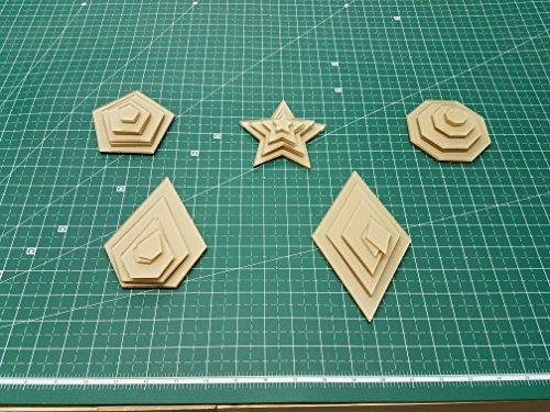 Jewels Octagon (LaserThing Itajime Shibori Templates - 40 Piece Set - Star, Diamond, Jewel, Octagon, and Pentagon)