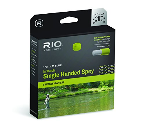 RIO Products Fly Line Intouch Single Hand Spey #5 F/H/I, Clear-Camo-Glacial/Peach/Camo