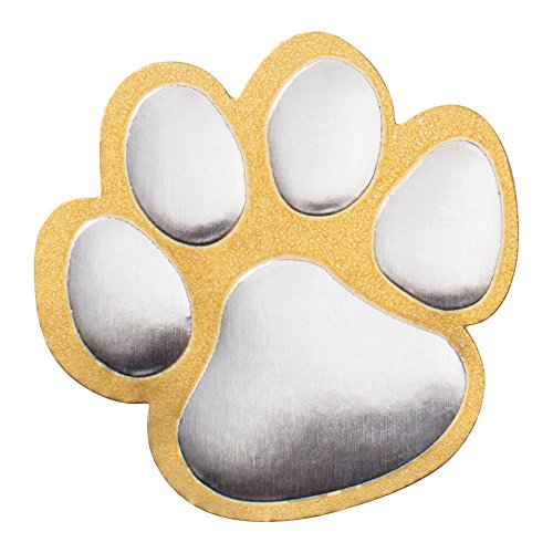 - Gold and Silver Paw Print Foil Seal, Pack of 102 Seals