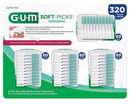Gum Dental Soft-Picks Original - 320 Picks, 80 Picks x 4 Travel Convenient - Union Gum