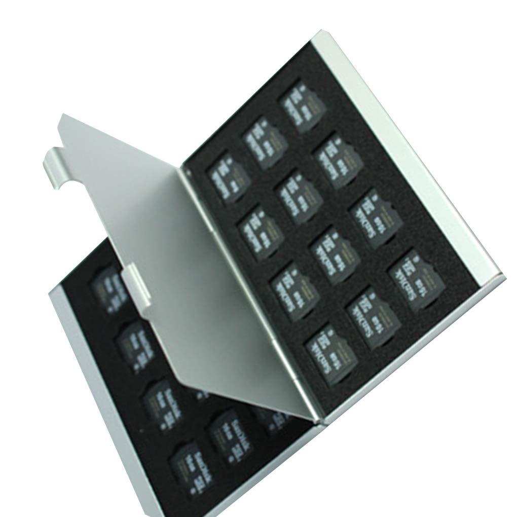 Deinbe Aleaci/ón de Aluminio Tarjetas Micro SD TF Estuche de Almacenamiento Tarjeta de Memoria Titular Delgado Capas Dobles Rojo 8TF+4SD