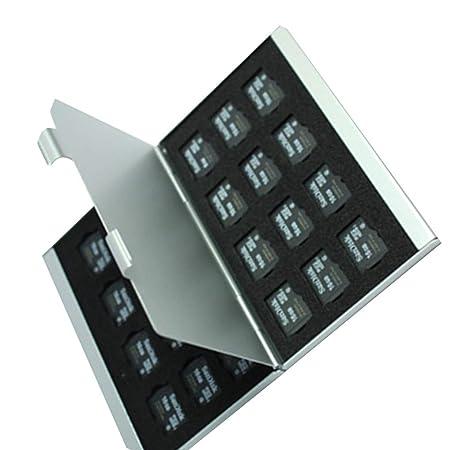 Pigup Aleación de Aluminio Tarjetas Micro SD TF Estuche de ...