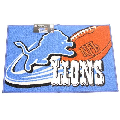 The Northwest Company NFL Detroit Lions Tufted Non Skid Rug, 20'' x 30'', Blue