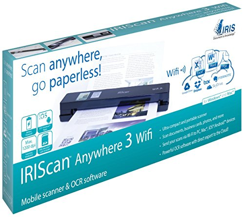 IRIScan Anywhere 3 Wireless Portable 1200 dpi Color Scanner with WiFi by IRIS USA, Inc.