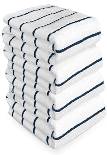 Extra Large Pool Beach Towels in Royal Blue Stripe (4 pack, 36'' x 66'' inches) - 100% Cotton, Soft, Lightweight, Quick dry Spa towel by TURKUOISE TURKISH TOWEL (Image #2)