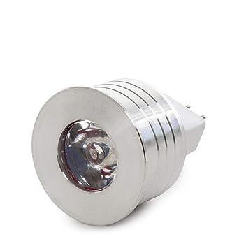 Greenice | Bombilla de LEDs 1W GU5,3 12V 90Lm 30.000H | Blanco Cálido