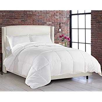 white goose down alternative ultra plush box stitched soft fabric comforter duvet cover king queen xl twin