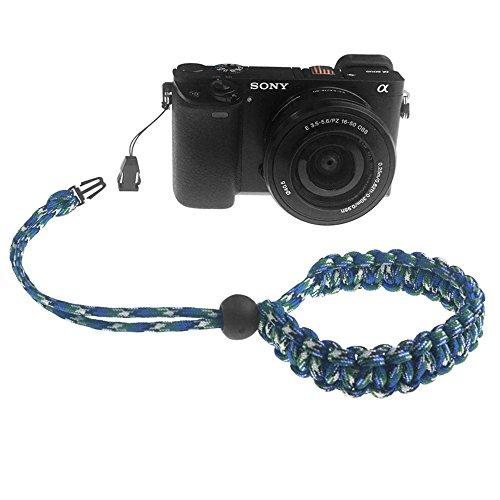 FoRapid Braided 550 Paracord Adjustable Camera Wrist Strap//Bracelet for Mirrorless Compact System DSLR Cameras Black Binoculars