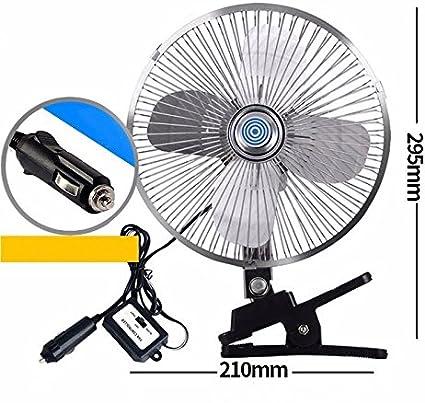 Ventilador del coche/12v/24v/coche con el ventilador grande del ventilador/del carro grande/ventilador de techo grande de la energía eólica, E, 12V: Amazon.es: Coche y moto