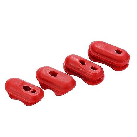 KUNSE 4Pcs Funda De Plástico Rojo Protección De Alambre para ...