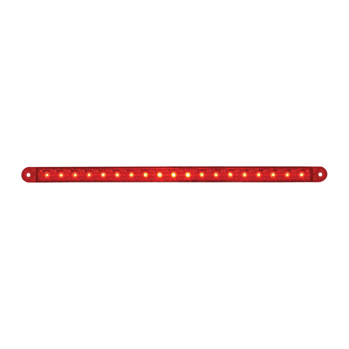 GG Grand General 76385 12 Inch 19-Led Flush Mount Light Bar, Red Lens, 3 Wires by GG Grand General