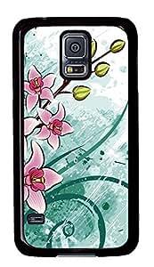 Samsung Galaxy S5 Nature Flowers 2 PC Custom Samsung Galaxy S5 Case Cover Black