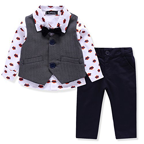 LvYinLi Pieces Bowtie Gentleman sleeve