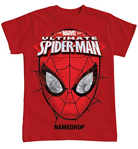"Marvel Ultimate Spider Man ""SPIDEY EYES"" Tee Little Boys T Shirt Top - Red (SM)"