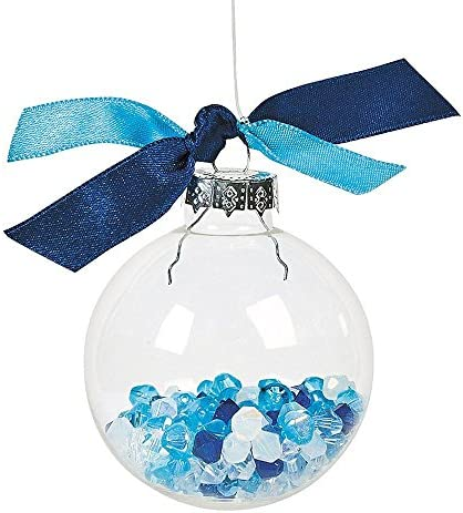 Set of 12 Clear Glass Ball Christmas Ornaments 2.2 Inches
