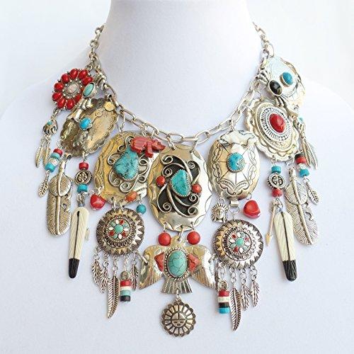 Southwestern Indian Style Charm Necklace Earrings Bracelet