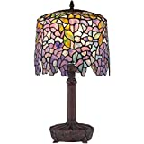 Quoizel TF1139T One Light Table Lamp 1-Light Tiffany Table Lamp - Small
