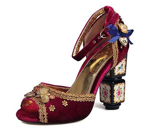 Terciopelo Strap Peep De Pump Sandalias Encaje Verano Lujo De Red De Mujeres Toe De D'orsay Oro Ankle De De Oso Piel Sandalias X7fwnngqx