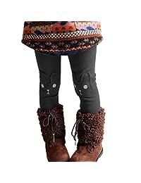 Kids Baby Girls Cute Rabbit Winter Warm Thick Fleence Leggings Pants 2-7years