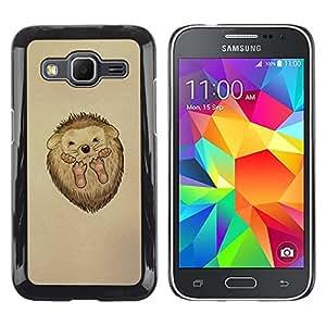 Shell-Star Arte & diseño plástico duro Fundas Cover Cubre Hard Case Cover para Samsung Galaxy Core Prime / SM-G360 ( Cute Hedgehog Baby )