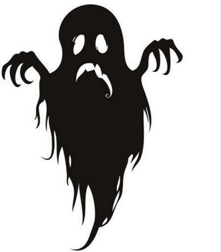 CiCy Halloween Decorations Happy Halloween Black Ghost Wall Sticker Window Home Decoration Decal Decor