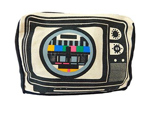 Handtasche Schultertasche TV Testbild 22-17-4cm Stoff