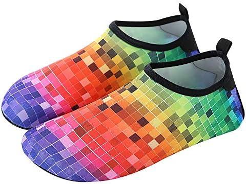 ウォーターシューズ メンズレディース滑り止めカット耐性速乾性通気性のソフトボトムスイミングウェイディングリバーシューズ ユニセックス (Color : Multi-colored, Size : 36-37)