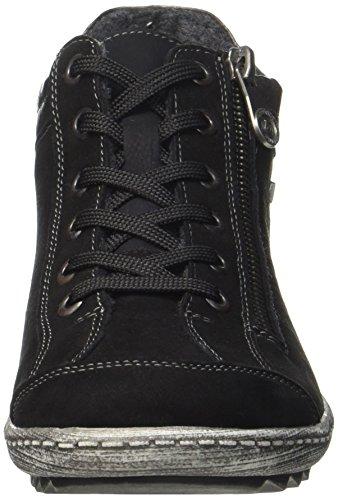 Women's Black up Shoes Lace Hightop R1483 Remonte 7zf8d7