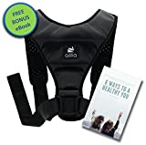 "Aillia Posture Corrector for Women Men Teens Back Support Brace - Effective Kyphosis Neck Hump Correction, Primate Discreet Under Clothes Upright Trainer, Clavicle Dowagers Corrector, Chest 36""-48''"