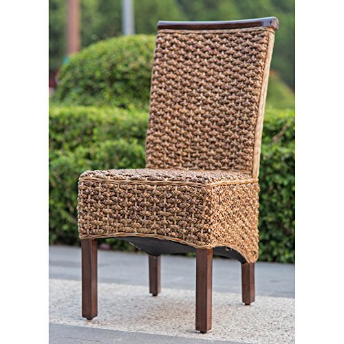 International Caravan SG-3310-1CH-IC Furniture Piece Bunga Hyacinth Dining Chair by International Caravan