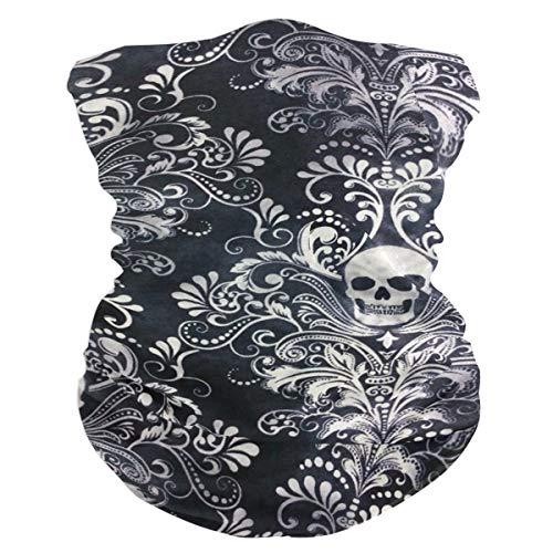 Gothic Skull Damask Scary Halloween Outdoor Magic Headband Multifunctional Elastic Seamless BandanScarf UV Resistence Sport -
