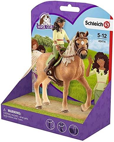 3in1-SET Schleich Pferde Horse Club - Sarah & Mystery mit Decke Halfter und Pflegeset