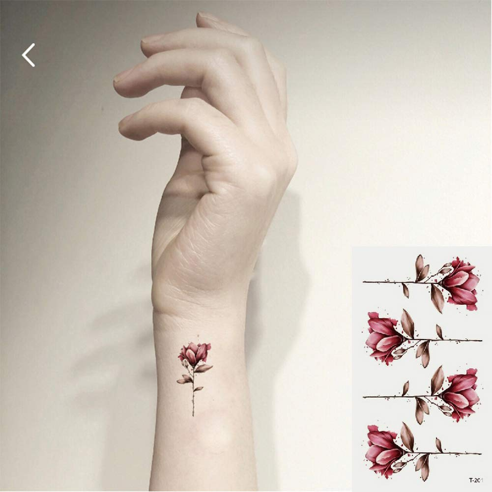 Oottati 2 Hojas Pequeño Lindo Tatuaje Temporal Tattoo Patrón ...