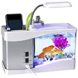 MiniPoco Mini USB LCD Desktop Lamp Light Fish Tank Aquarium With...