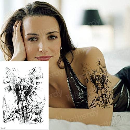 tzxdbh Los nuevos Tatuajes temporales Angel derrota al Demonio ...