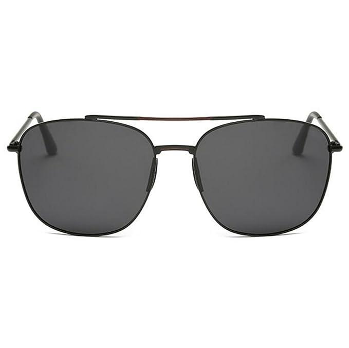 Moda Grandes De La Caja Gafas De Sol Polarizadas 5 Colores,BlackBoxBlackGrayFilm-AllCode