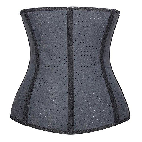 PULABO LÁTEX Mujer Fajas Reductoras de Cinturón Formación para Cincher Underbust Bustiers Corsé Negro