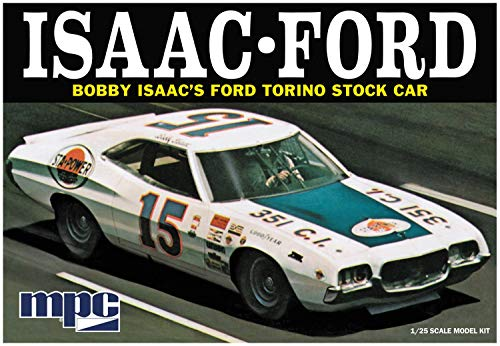 C.P.M. MPC MPC839 1:25 Scale Bobby Isaac Ford Torino Stock Car Model Kit (Torino Stock)