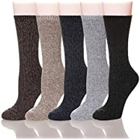 Women Soft Comfort Casual Cotton Winter Warm Crew Sock 5 Pairs