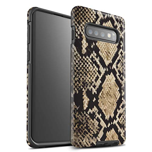 eSwish Matte Tough Shock Proof Phone Case for Samsung Galaxy S10 / Snake Skin Effect Design/Fashion Animal Print Pattern Collection