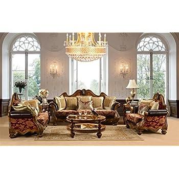 Quebec Burgundy Upholstered Formal Sofa Collection (Sofa U0026 Loveseat ...