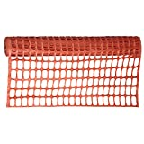 Pioneer V6010250-O/S Multipurpose Safety Fence Barrier, 4 X 50 Feet PVC Mesh Net Guard Orange, 50'