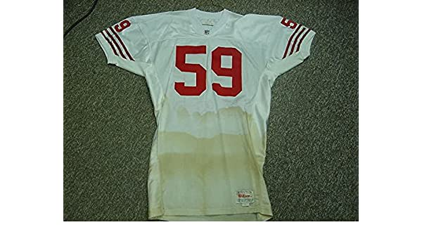 18e60c219 Keith DeLong. San Francisco 49ers 1991-93 Game Worn Jersey at Amazon s  Sports Collectibles Store