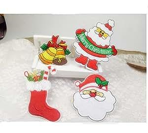 Navidad parches, Charminer 21pcs Navidad parche bordado para planchar o coser