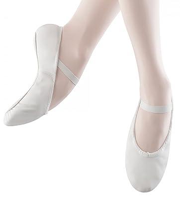 Erwachsene Arise, Ballettschläppchen Leder, Chromleder Sohle. Weiß 35.5 EU Bloch