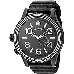 Nixon Men's 'Star Wars Kylo' Swiss made quartz Leather Casual Watch, Color:Black (Model: A1063SW2444-00)